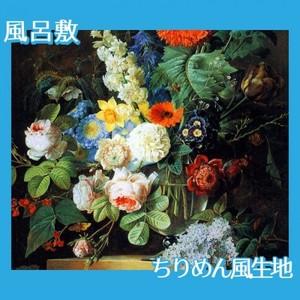 ルドゥーテ「ガラスの花瓶の花」【風呂敷】