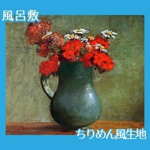ルドン「花びんと花」【風呂敷】