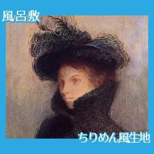 ルドン「マリー・ボトキン:アストラカンのコート」【風呂敷】