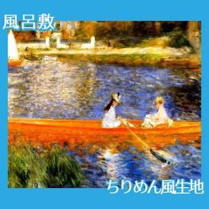 ルノワール「アニエールのセーヌ川」【風呂敷】