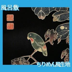 伊藤若冲「花鳥版画(六枚) 四.青桐に砂糖鳥図」【風呂敷】