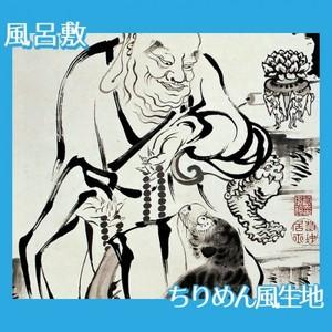 伊藤若冲「十六羅漢図(六幅) 二」【風呂敷】