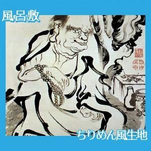 伊藤若冲「十六羅漢図(六幅) 五」【風呂敷】