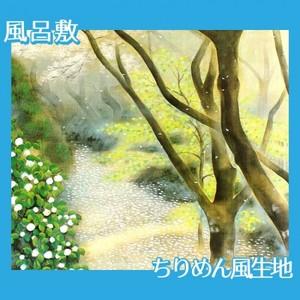 小茂田青樹「春庭」【風呂敷】