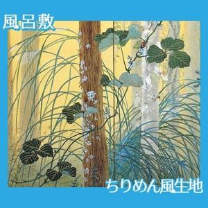 下村観山「木の間の秋(左)」【風呂敷】