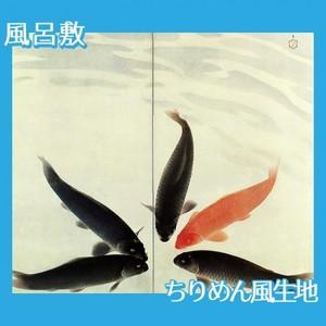 川端龍子「五鱗図」【風呂敷】