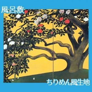 速水御舟「名樹散椿」【風呂敷】