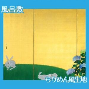 速水御舟「翠苔緑芝(左)」【風呂敷】