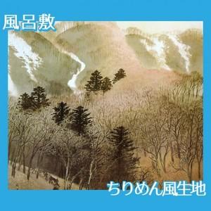 川合玉堂「峰の夕」【風呂敷】