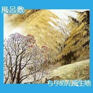 川合玉堂「高原入冬」【風呂敷】