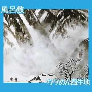 川合玉堂「山村深雪」【風呂敷】
