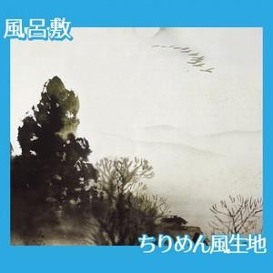 川合玉堂「冬の月」【風呂敷】