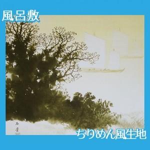 川合玉堂「斜陽」【風呂敷】