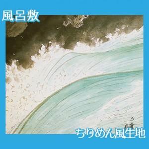 川合玉堂「河鹿(水四題)」【風呂敷】