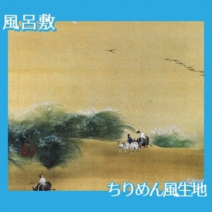 横山大観「月下牧童」【風呂敷】