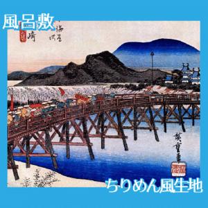 歌川広重「東海道五拾三次 岡崎・矢矧之橋」【風呂敷】