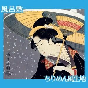 栄松斎長喜「雪中秋色女」【風呂敷】