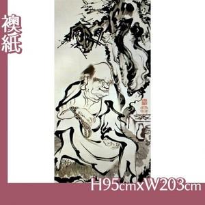 伊藤若冲「十六羅漢図(六幅) 五」【襖紙】