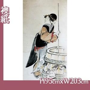 歌川豊国「美人若水汲み(部分)」【襖紙】