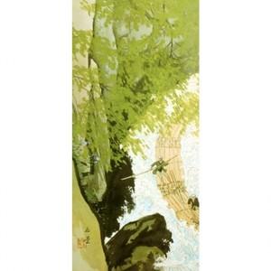 川合玉堂「筏1」【窓飾り】