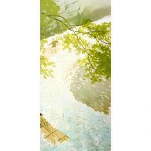 川合玉堂「筏2」【窓飾り】