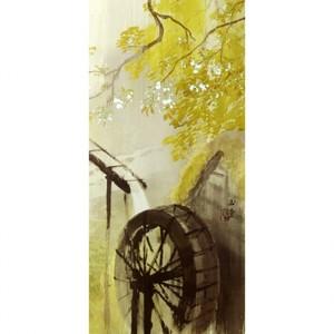 川合玉堂「暮春の雨2」【窓飾り】