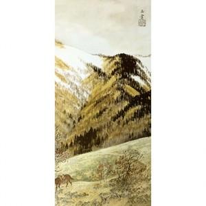 川合玉堂「高原入冬2」【額装向け複製画】