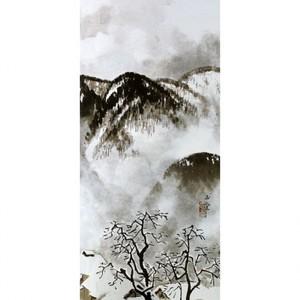 川合玉堂「山村深雪2」【額装向け複製画】