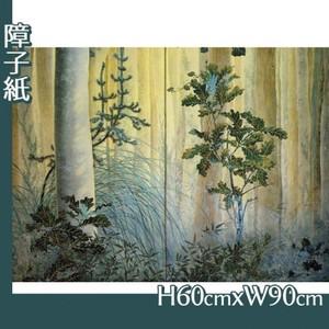 下村観山「木の間の秋(右)」【障子紙】
