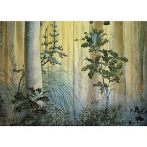 下村観山「木の間の秋(右)」【窓飾り】