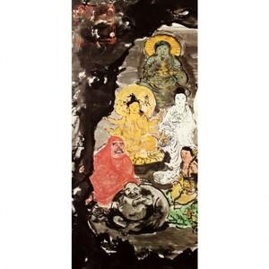 富岡鉄斎「古仏龕図」【窓飾り】