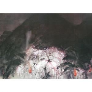 冨田溪仙「祇園夜桜」【障子紙】