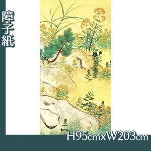 横山大観「野の花4」【障子紙】