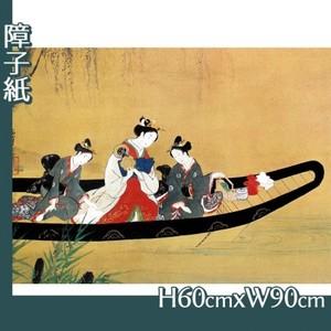 西村重長「舟中の遊女と禿図」【障子紙】