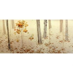 菱田春草「落葉(左)」【窓飾り】