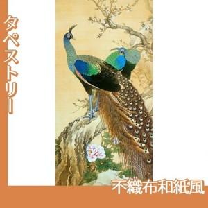 今尾景年「孔雀」【タペストリー:不織布和紙風】
