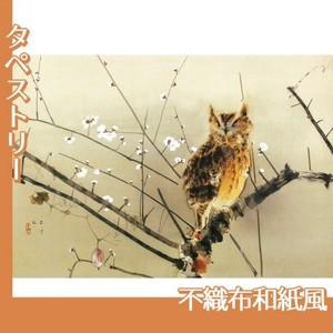 西村五雲「寒梅」【タペストリー:不織布和紙風】