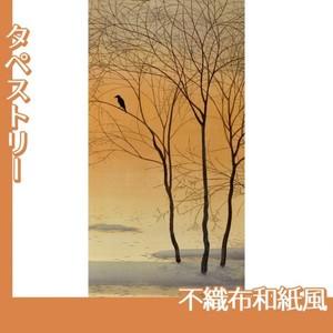 菱田春草「暮色」【タペストリー:不織布和紙風】