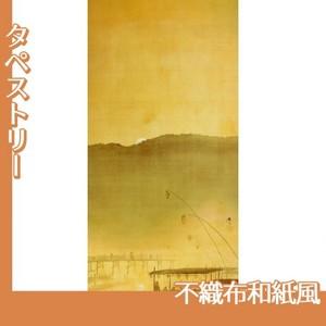 下村観山「納涼」【タペストリー:不織布和紙風】