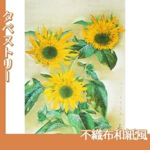 速水御舟「向日葵(本制作)」【タペストリー:不織布和紙風】