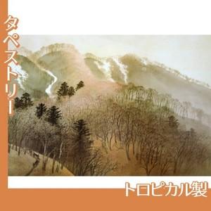川合玉堂「峰の夕」【タペストリー:トロピカル】