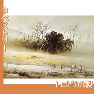 川合玉堂「寒流暮靄」【タペストリー:トロピカル】