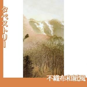 川合玉堂「峰の夕2」【タペストリー:不織布和紙風】