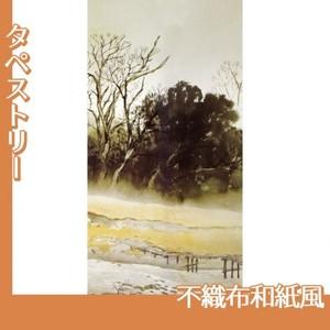 川合玉堂「寒流暮靄1」【タペストリー:不織布和紙風】