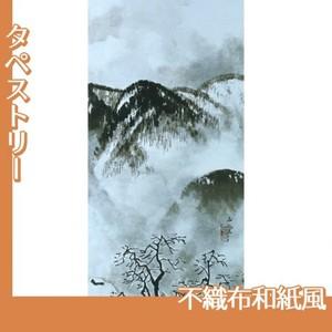 川合玉堂「山村深雪2」【タペストリー:不織布和紙風】
