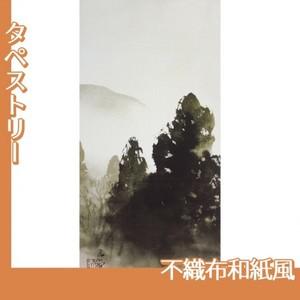 川合玉堂「冬の月1」【タペストリー:不織布和紙風】