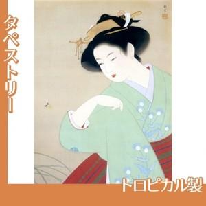 上村松園「新蛍」【タペストリー:トロピカル】