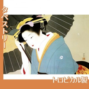 上村松園「雪」【タペストリー:トロピカル】