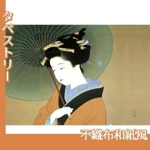 上村松園「青眉」【タペストリー:不織布和紙風】