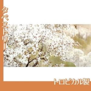 木島桜谷「小雨ふる吉野(左)」【タペストリー:トロピカル】